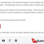 Complete a 15-Minute Survey to Receive 100 QFF Points [First 10,000]