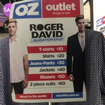 [NSW] Roger David Clothing Clearance: T-Shirts $10, Business Shirts $20, Trousers $30, Suits $60 @ Lidcombe Centre via Oz Outlet