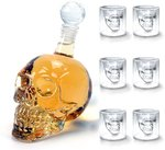 50% off 6x Crystal Skull Head Glass (75ml) + 1x Wine Decanter Wine Carafe ($13.49 + Delivery (Free with Prime/ $49) @ Amazon AU