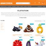 Giant Inflatable Ride-On Toucan/Flamingo/Emoji Poo/Pineapple/Eggplant/Watermelon/Unicorn & More $5 (Was$49.99-$29.99) @ Anaconda