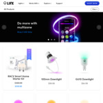 LIFX Buy 2, Get 1 Free - 100mm Downlight $199.98, A60 $179.98, All Products (Delivered) @ LIFX