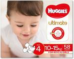 [Prime] Huggies Ultimate Nappies, Unisex, Size 4 (10-15kg), 58 Count $22.50 Delivered @ Amazon AU