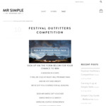 Win an Apparel/Watch/Duffle/Vinyl Prize Pack Worth $1,000 from Mr Simple