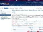 MyNetFone - 200GB Naked ADSL2+ Bonus Free Wi-Fi Modem & Free Calls for a Year - $49.95/Month