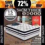 Zzz Atelier Black Label Mattress Single $135.20, Queen $231.20, Double $207.20 + Delivery (Free in Some Area) @ Zzz Atelier eBay