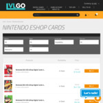 [Nintendo] Nintendo $50 USD eShop Digital Cards US $42.28 (~AU $61.3) @ LVLGO [US Nintendo Acconts]