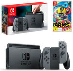 [eBay Plus] Nintendo Switch Grey Joy-Con Console with ARMS Bundle - $349.31 Delivered @ The Gamesmen eBay