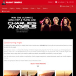 Win a $15,000 Flight Centre Gift Card +/- 1 of 100 Charlie's Angels Prize Packs Worth $71 from Flight Centre