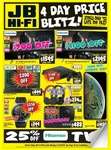 "Black Friday Deals: 25% off Hisense TVs & More Deals (eg Samsung 75"" Ultra HD Smart LED TV $1595 Local Delivery) @ JB Hi-Fi"