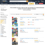 [Prime] $10 Credit Towards Your Next Purchase of Selected Nintendo Switch Game or Console @ Amazon AU