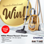 Win 1 of 2 Nilfisk Meteor Vacuum Cleaners Worth $249 from Stan Cash