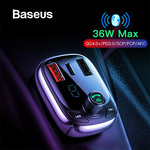 Baseus QC 4.0 Bluetooth FM Transmitter MP3 Player Type-c Dual USB Car Charger AU$17.85 Delivered @ eSkybird