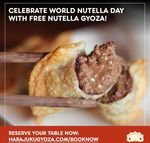 [NSW, QLD] Free Serve of Nutella Gyoza with Any Purchase @ Harajuku Gyoza
