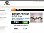 Star Crystal Rhinestones Hot Fix Flatback Crystal AB 16ss X 500 - AUD$3.50