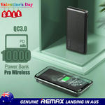REMAX QC3.0 & PD 10000mAh Pro Wireless Power Bank $29.95 Delivered (50% off) @ HTL eBay