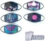 Cyberpunk & Vaporwave Style 5 Dust Masks with 15 Disposable Mask Pads USD $13.95 (~AUD $24.52) Shipped @ Bazaardodo