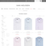 All Shirts $29+ $9.95 Delivery ($0 with $100 Spend) @ Van Heusen