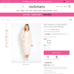 Rockmans Long-Sleeve Bathrobe $8 (Was $49.99) + $10 Delivery ($0 with $80+ Spend) @ Rockmans
