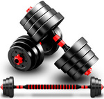 2x 20KG Dumbbell/Barbell Weight Set $85.40 + Shipping @ Dshop
