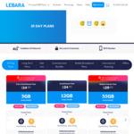 Lebara SIM Starter Pack - Extra Small $5 (3GB  Was $14.90), Medium $10 (35GB  Was $29.90), Large $20 (45GB  Was $39.90) @ Lebara