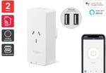 Kogan SmarterHome Smart Plug with Energy Meter & 5V 2.4a USB Ports (2 Pack) $29.99 Delivered @ Kogan