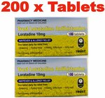 Trust Loratadine 10mg X 200 Tablets - (Generic Claratyne) Hayfever & Allergy Relief $25.99 Delivered @ PharmacySavings