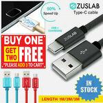 Zuslab USB Type C or Lightning Cables - 3 for $6.99 Delivered @ Zuslab eBay
