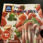 Australian Strawberries 250g Punnet $1.49 @ ALDI