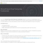 [Back Offer] Free: Microsoft Azure Fundamentals AZ-900 Virtual Training + Free Voucher for Certification Exam @ Microsoft