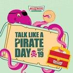 [SA] 1 Free Doughnut (Talk Like a Pirate) / 6 Free Doughnuts (Dress Like a Pirate) @ Krispy Kreme SA (Excludes OTR)