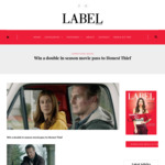 Win a Double in Season Movie Pass to Honest Thief from Label Magazine