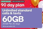 Large 90 Day Prepaid Voucher (20GB Per 30 Days) $15 (New Mobile Customers Only) @ Kogan Mobile