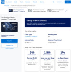 American Express Cashback Card - 1% Cashback (+Bonus 5% Cashback up to $200 for New AmEx Members), Free BINGE Basic, $10/Mth Fee