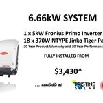 [VIC] 6.6kW Jinko n-type 370W Solar Panels + 5kW Fronius Inverter Fully Installed from $3,430* ($1,580 Upfront) @ Pristine Solar