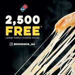 2500 Free Cheese Pizzas (Facebook Required) @ Domino's Pizza