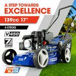 "[eBay Plus] POWERBLADE 17"" Lawn Mower 139cc Petrol Powered 4 Stroke Steel Lawnmower $223.27 Delivered @ Edisons eBay"