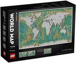 LEGO ART World Map 31203 $319.99 (Was $399.99) Delivered @ Myer
