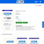 Catch Connect Prepaid Mobile (Optus 4G): 365-Day 120GB Unlimited Talk & Text $109 (Was $150) - New Customers Only