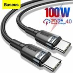 Baseus Braided 0.5m PD 60W Type-C to Type-C Cable US$1.84 (~A$2.53) @ BASEUS Officialflagship Store AliExpress