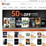 EA Origin - 50% off Store Wide