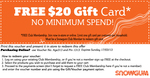Snowgum Club Members: Free $20 Gift Card - No Minimum Spend