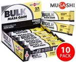 Musashi Bulk Mass Protein Bar Banana 10pk $8.95 + Shipping $4.95 (Delivery Capped $11)