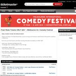 Melbourne Int. Comedy Festival - Final Week Tickets ONLY $25! (Only Applies to Selected Shows)