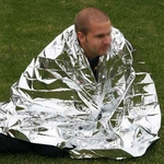 Emergency Thermal Blanket, Emergency Rescue Blanket Survival Bag for $1.43 + Free Shipping