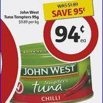 HALF PRICE John West Tuna Tempters $0.94 at Coles (Save $0.95)