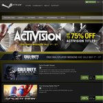 Activision Publisher Weekend Sale - up to 75% off on Steam