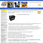 $79 Ford Falcon & Holden Commodore Battery (550 CCA), NP85R500 @ Every Battery