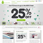 Moo.com 25% off Business Cards, Postcards Flyers and More