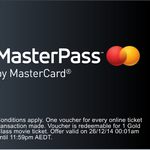 FREE Village Cinemas Gold Class Voucher - Mastercard MasterPass Ticket Purchase at Village Cinemas on Boxing Day Required