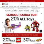 20% off ALL Toys + Extra 20% off with Code (Excludes Lego) + More @ Target